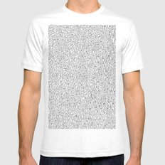 Cutlery Pattern MEDIUM White Mens Fitted Tee