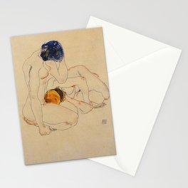 Egon Schiele - Two Friends  Stationery Cards