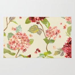 Fall Hydrangeas, Floral Print Rug