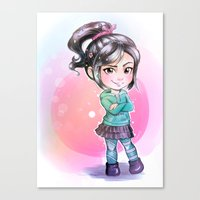 wreck it ralph Canvas Prints featuring Vanellope - Wreck-it Ralph by Claire