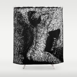Figure Seated on Chair Shower Curtain