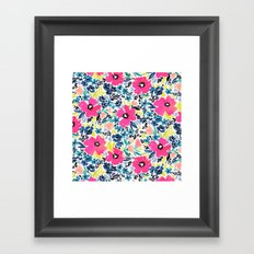 Watercolor Floral Framed Art Print