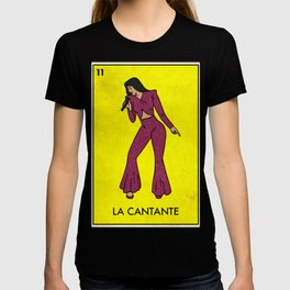 La Cantante The Performer Mexican Loteria Bingo Card T-shirt