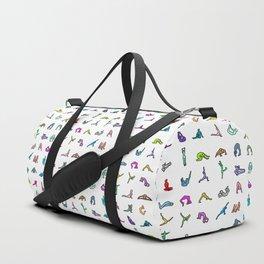 Rainbow Yoga Poses Duffle Bag