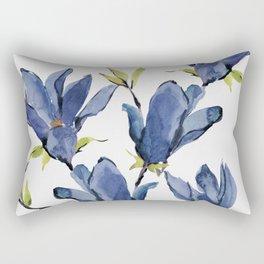 Blue Flowers 3 Rectangular Pillow