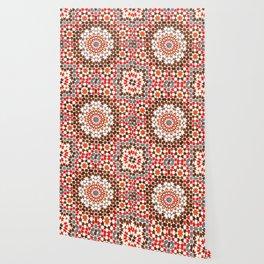 Berber Moroccan Geometric Heritage Floral Mandala Style Wallpaper