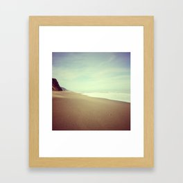 Empty Beach, Humboldt County, CA Framed Art Print