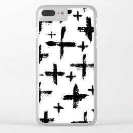 Pattern with brush cross and strokes Clear iPhone Case