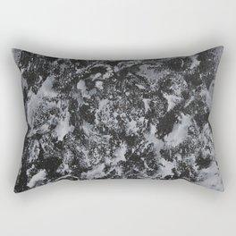 White Ink on Black Background #4 Rectangular Pillow