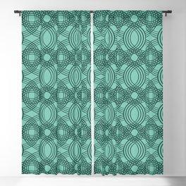 Celtic Knot pattern Spearmint Blackout Curtain
