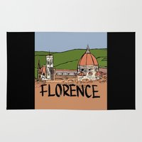 florence Area & Throw Rugs featuring Florence by Logan_J