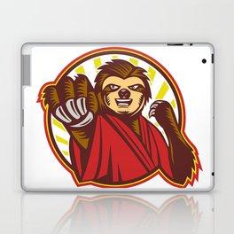 Sloth Fighter Self Defense Circle Mascot Laptop & iPad Skin