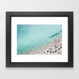 Busy Beach Framed Art Print