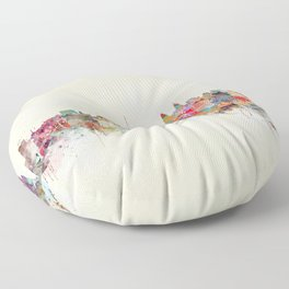Kuala Lumpur Malaysia Floor Pillow