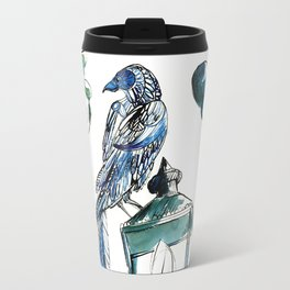 Blue crow Travel Mug