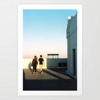 Shadows - LA Art Print