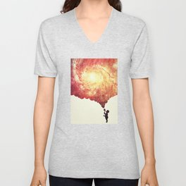 The universe in a soap-bubble! (Awesome Space / Nebula / Galaxy Negative Space Artwork) Unisex V-Neck