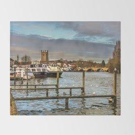 Henley on Thames Riverside Throw Blanket