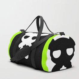 Cute Lazy Bear Black and White Duffle Bag