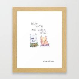 Backhand Bears Framed Art Print