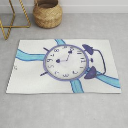 A clock with ribbon Rug