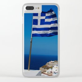 The Greek Isles - Santorini Greece Clear iPhone Case