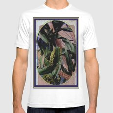 Twisted  Cactus White MEDIUM Mens Fitted Tee
