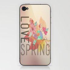 LOVE SPRING iPhone & iPod Skin