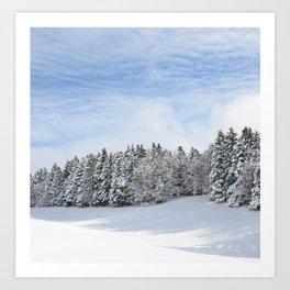 Charteuse Mountain2 Art Print