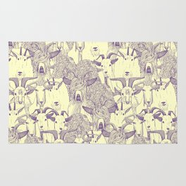 just goats purple cream Rug