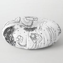 Tattoo Flash American Traditional Floor Pillow