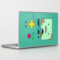 bmo Laptop & iPad Skins featuring Zom-BMO by Zeke Tucker