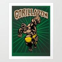 Gorilladon Art Print