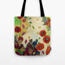 The Unexpected Poppies Tote Bag