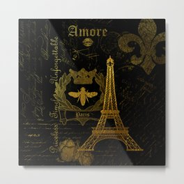 Paris Amore Metal Print