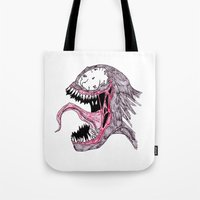 venom Tote Bags featuring Venom by Bearskin