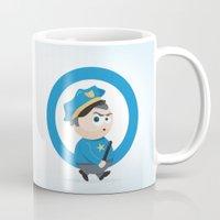police Mugs featuring Police by Emir Simsek