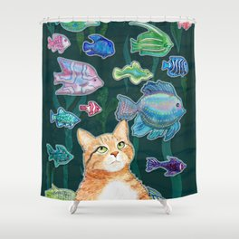 Dreamy Cat Shower Curtain