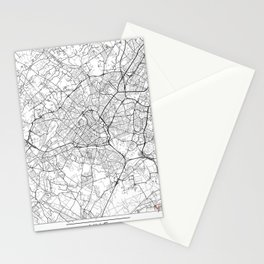 Lille Map White Stationery Cards