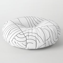 My Favorite Geometric Patterns No.19 - White Floor Pillow