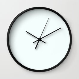 Snow - Cool White - Solid Color Collection Wall Clock