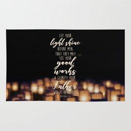 Matthew 5:16 Rug