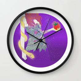 eve and the snake Wall Clock