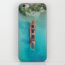 Roatan Island Shipwreck iPhone Skin