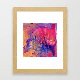 AcrylicFlow #1102 - Sunset Flow Framed Art Print