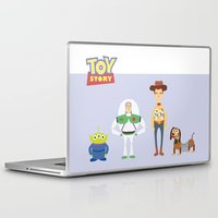 toy story Laptop & iPad Skins featuring Toy Story by YoongSin