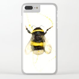 ORIGINAL WATECOLOR BUMBLE BEE Clear iPhone Case