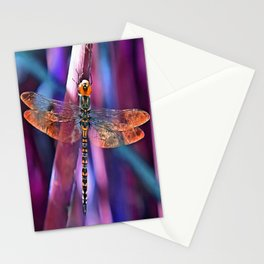 Dragonfly In Orange and Blue Stationery Cards