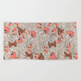 Monarch garden 001 Beach Towel