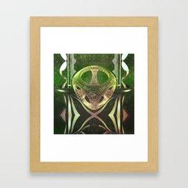 Emerald pattern Framed Art Print